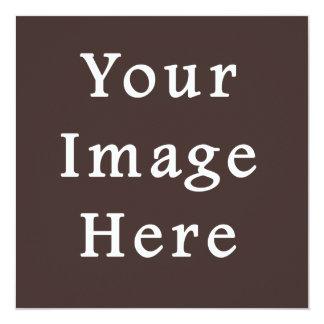 ココアブラウンの暗灰色色の傾向のブランクのテンプレート カード