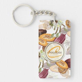 ココア豆、チョコレート花、性質のギフト キーホルダー