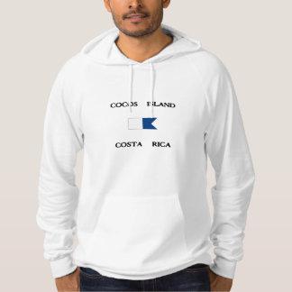 ココス群島のコスタリカのアルファ飛び込みの旗 パーカ