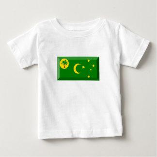 ココス群島の旗の宝石 ベビーTシャツ