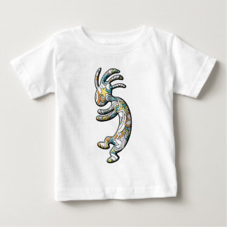 ココペリのサイケデリックなペイズリーのテーマ ベビーTシャツ