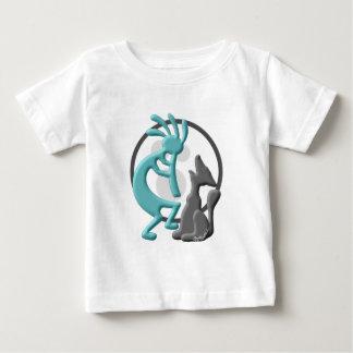 ココペリのネイティブアメリカンのデュエット ベビーTシャツ