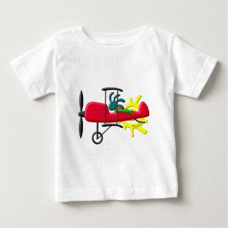 ココペリのネイティブアメリカンの発育阻害の飛行機のパイロット ベビーTシャツ