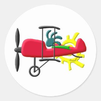 ココペリのネイティブアメリカンの発育阻害の飛行機のパイロット ラウンドシール