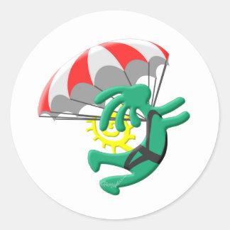 ココペリのネイティブアメリカンのSkydiver ラウンドシール