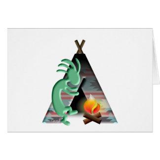 ココペリのネイティブアメリカンのTipiのキャンプ カード