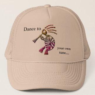 ココペリのフルートプレーヤーのカメの帽子 キャップ
