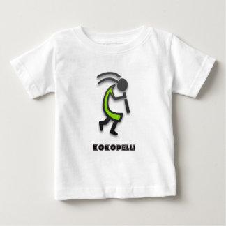 ココペリのフルートプレーヤー ベビーTシャツ