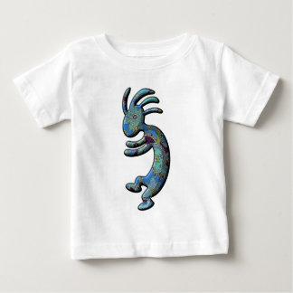 ココペリの青緑のペイズリーのテーマ ベビーTシャツ