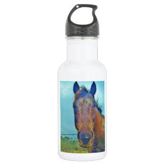 ココヤシのブラウンの馬のデニムの空 ウォーターボトル