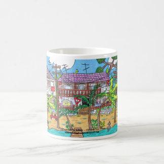 ココヤシの木のダイバーのマグ コーヒーマグカップ