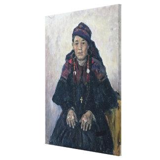 コサックのWomanのポートレート、1909年 キャンバスプリント