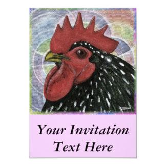 コシャン:  装飾的なオンドリの頭部 カード