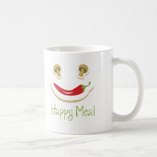 コショウおよびきのこの幸せな食事 コーヒーマグカップ