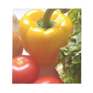 コショウのトマトの野菜のレタスの健康な食糧 ノートパッド