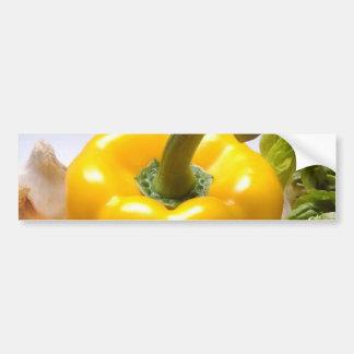 コショウのトマトの野菜のレタスの健康な食糧 バンパーステッカー