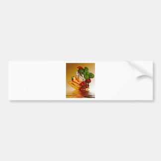 コショウのベズルのトマトのニンニク バンパーステッカー