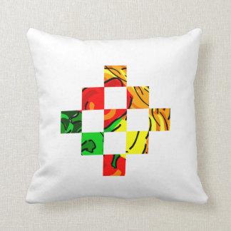 コショウの写実的で多彩な正方形のタイル クッション