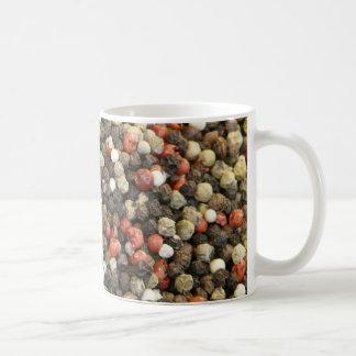 コショウの背景 コーヒーマグカップ