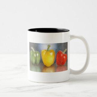 コショウの芸術のマグのトリオ ツートーンマグカップ