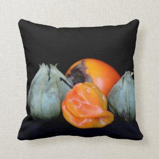 コショウのtomatilloの柿の静物画の食糧イメージ クッション