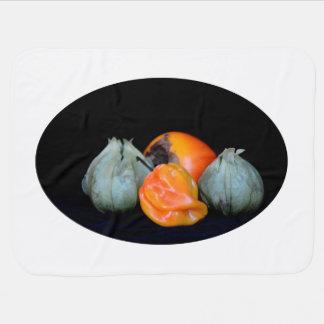 コショウのtomatilloの柿の静物画の食糧イメージ ベビー ブランケット