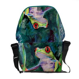 コスタリカのアマガエル メッセンジャーバッグ