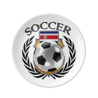 コスタリカのサッカー2016ファンのギア 磁器プレート