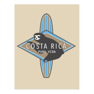 コスタリカのサーフィンの怠惰の郵便はがき ポストカード