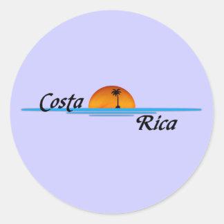 コスタリカのステッカー ラウンドシール