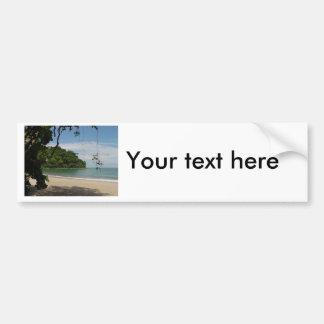 コスタリカのビーチの楽園 バンパーステッカー