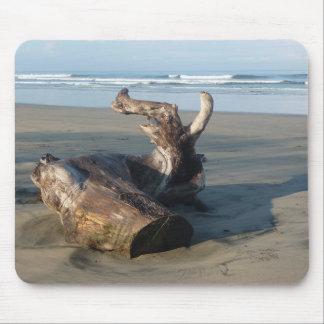 コスタリカのビーチの海岸の流木の写真のマウスパッド マウスパッド