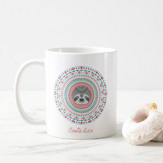 コスタリカのピンクの曼荼羅の怠惰のコーヒー コーヒーマグカップ