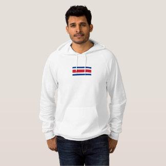 コスタリカのプルオーバーのフード付きスウェットシャツのメンズ旗 パーカ