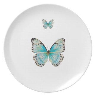 コスタリカの二重蝶メラミンプレート プレート