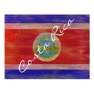 コスタリカの動揺してな旗 ポストカード