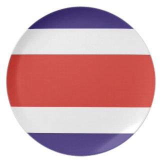 コスタリカの国旗のプレート プレート