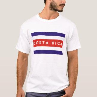 コスタリカの国旗の文字の名前 Tシャツ