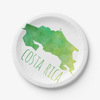 コスタリカの地図 ペーパープレート