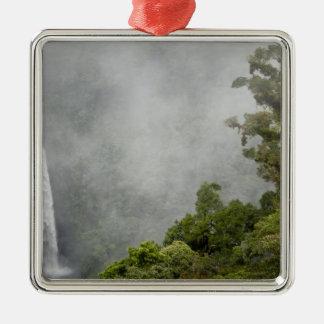 コスタリカの山の雲の森林はLaに近づきます メタルオーナメント