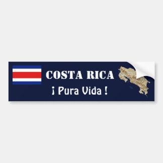 コスタリカの旗および地図のバンパーステッカー バンパーステッカー