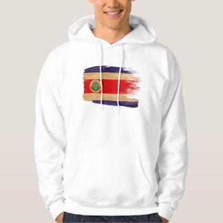 コスタリカの旗のフード付きスウェットシャツ パーカ