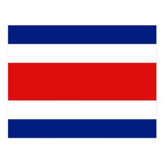 コスタリカの旗の郵便はがき ポストカード