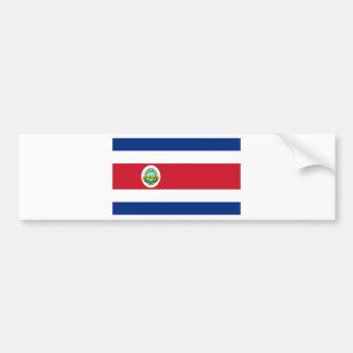コスタリカの旗のCR バンパーステッカー