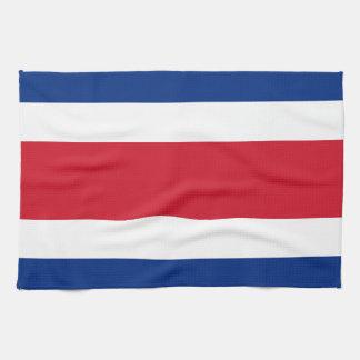 コスタリカの旗 キッチンタオル