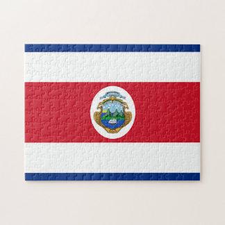 コスタリカの旗 ジグソーパズル