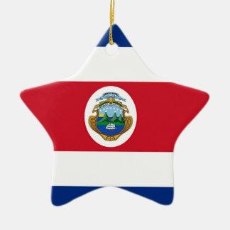 コスタリカの旗 セラミックオーナメント