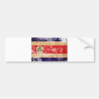 コスタリカの旗 バンパーステッカー