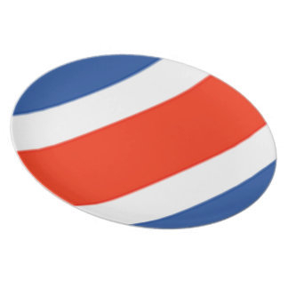 コスタリカの旗 プレート