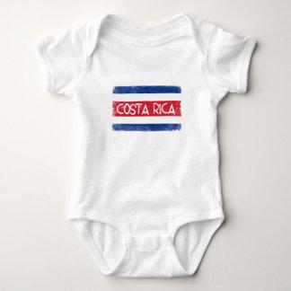 コスタリカの旗 ベビーボディスーツ